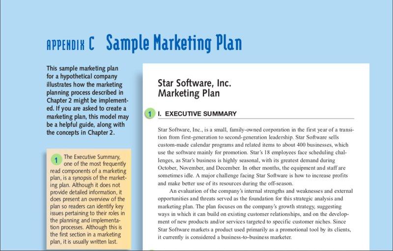 cengage marketing plan example