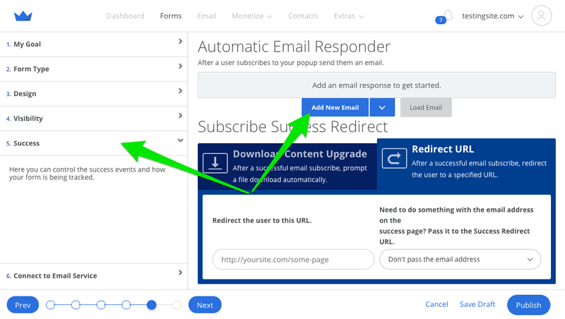 automatic email responder from sumo popups cro audit