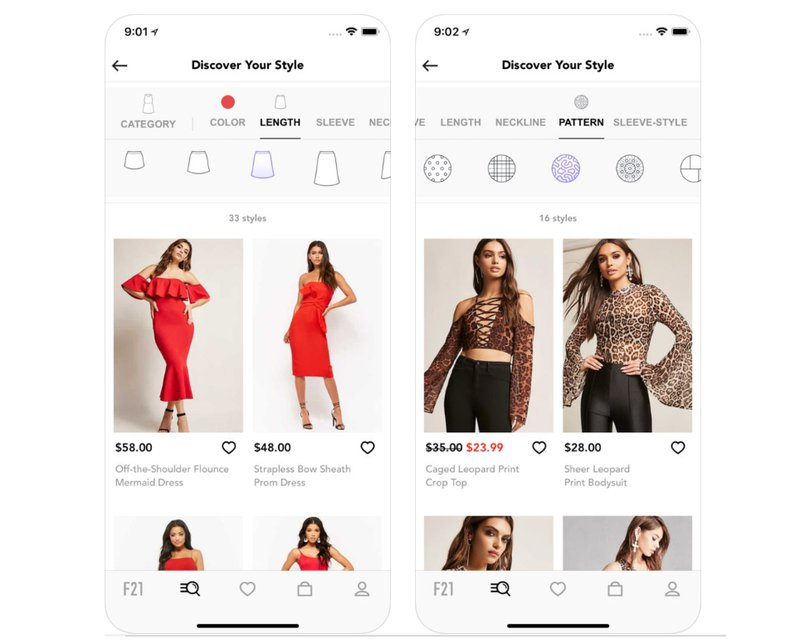 fashion visual search example