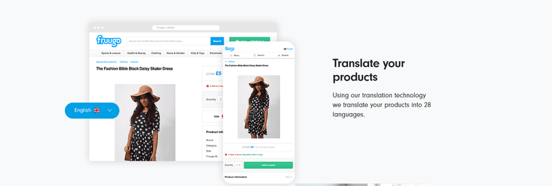 fruugo translate into 28 languages ecommerce marketplace