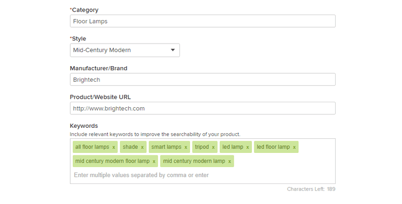 houzz tags keywords selling on houzz marketplace ecommerce marketing