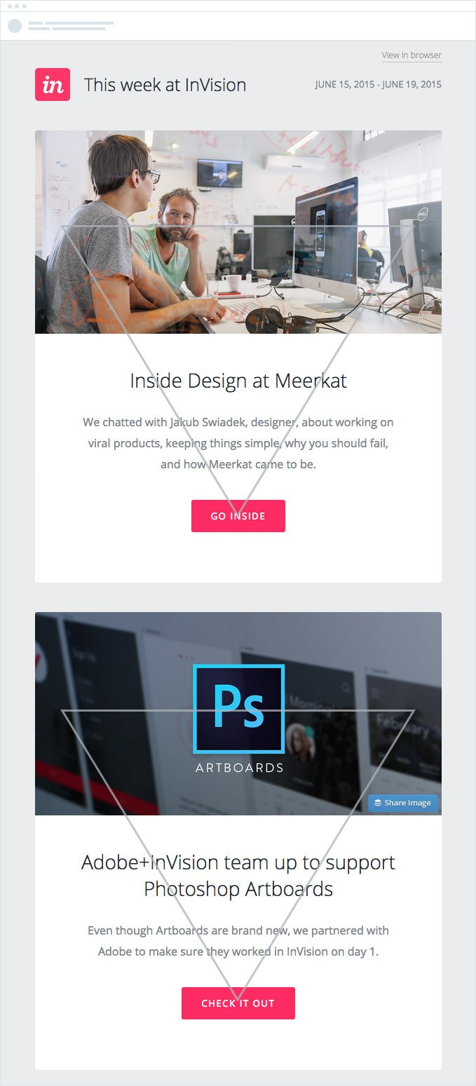 invision email design best practice for ecommerce