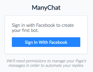 manychat chatbot facebook permission
