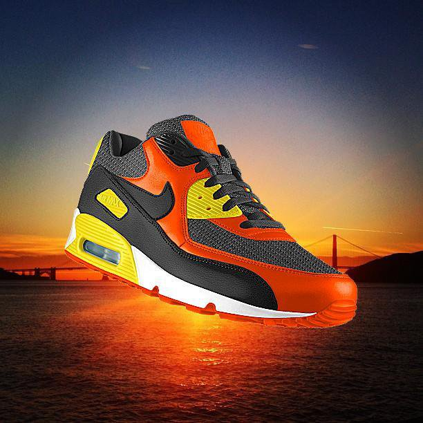 Nike red black show Air Max UGC example