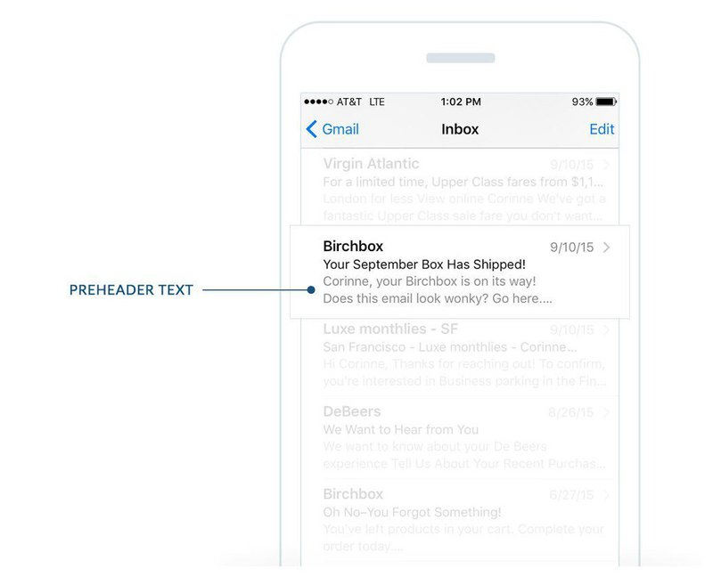 preview pre header text in email marketing