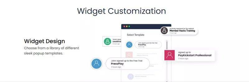provely notification tool example image ecommerce