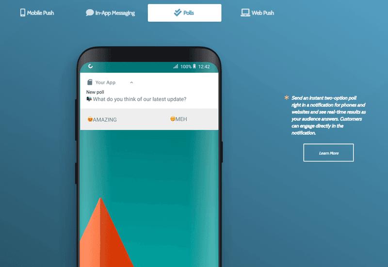 pushbots polls push notification tool for ecommerce marketing