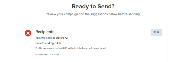 ready to send sms text message campaign