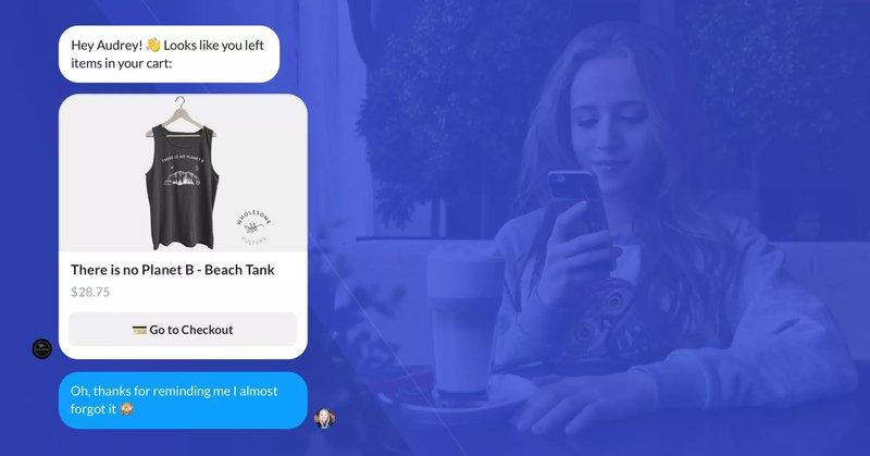 recart chatbot example ecommerce cart abandonment