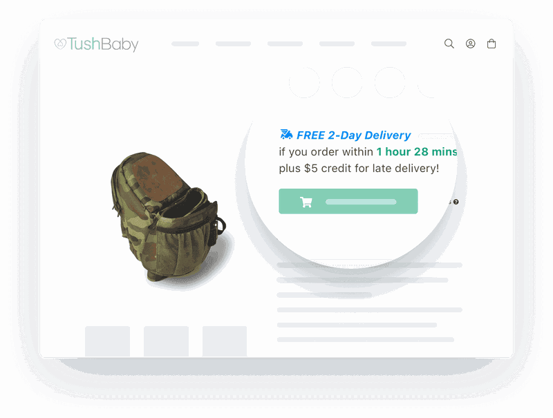 shipping countdown timer shopify ecommerce site