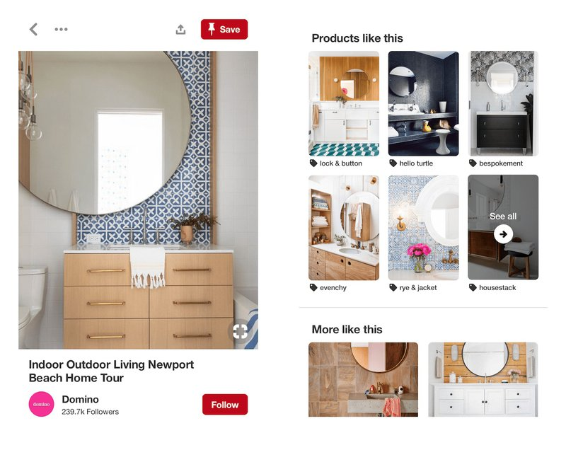 shopping product ads on pinterest social media