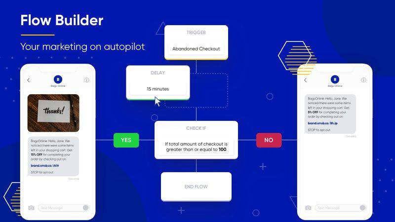 smsbump flow builder shopify app sms