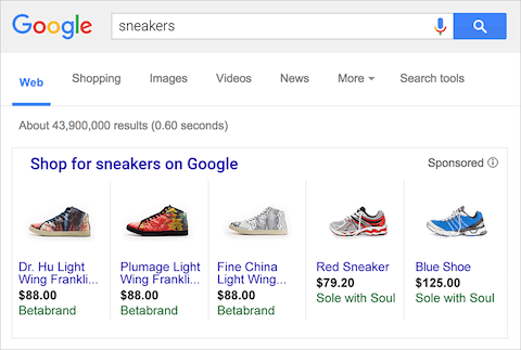 sneakers google ad