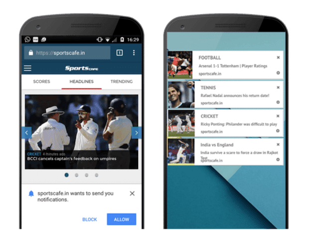 sportscafe omnichannel push notification strategy