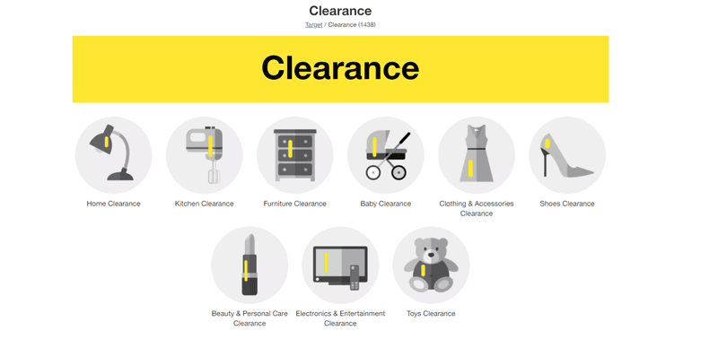 target clearance page