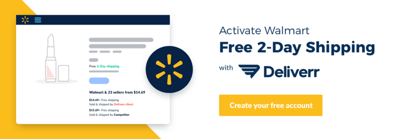 deliverr walmart 2-day shipping delivery online marketplaces