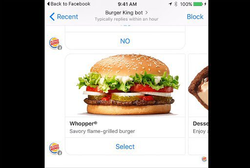 whopper burger king chatbot example