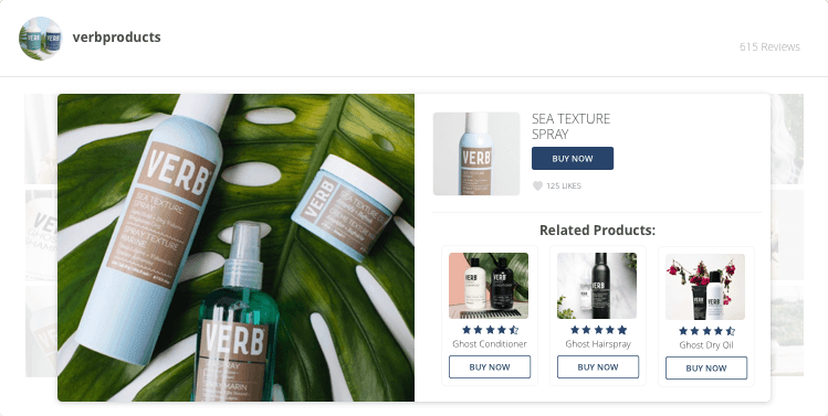 verb products ugc user generated content campaign yotpo example