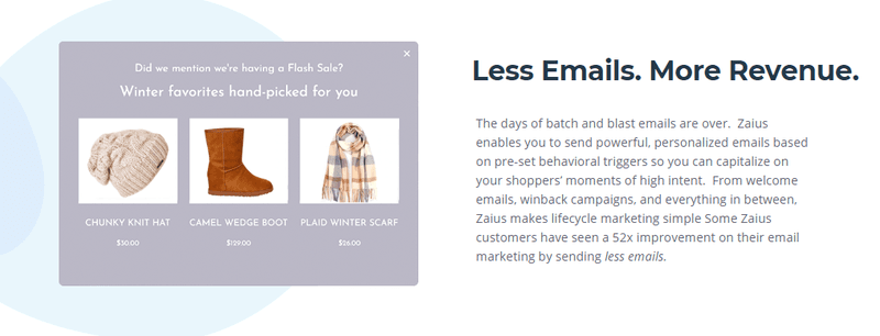zaius personalized email automation tool