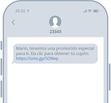 Links en SMS