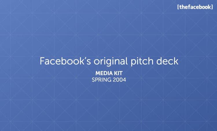 facebook pitch deck design