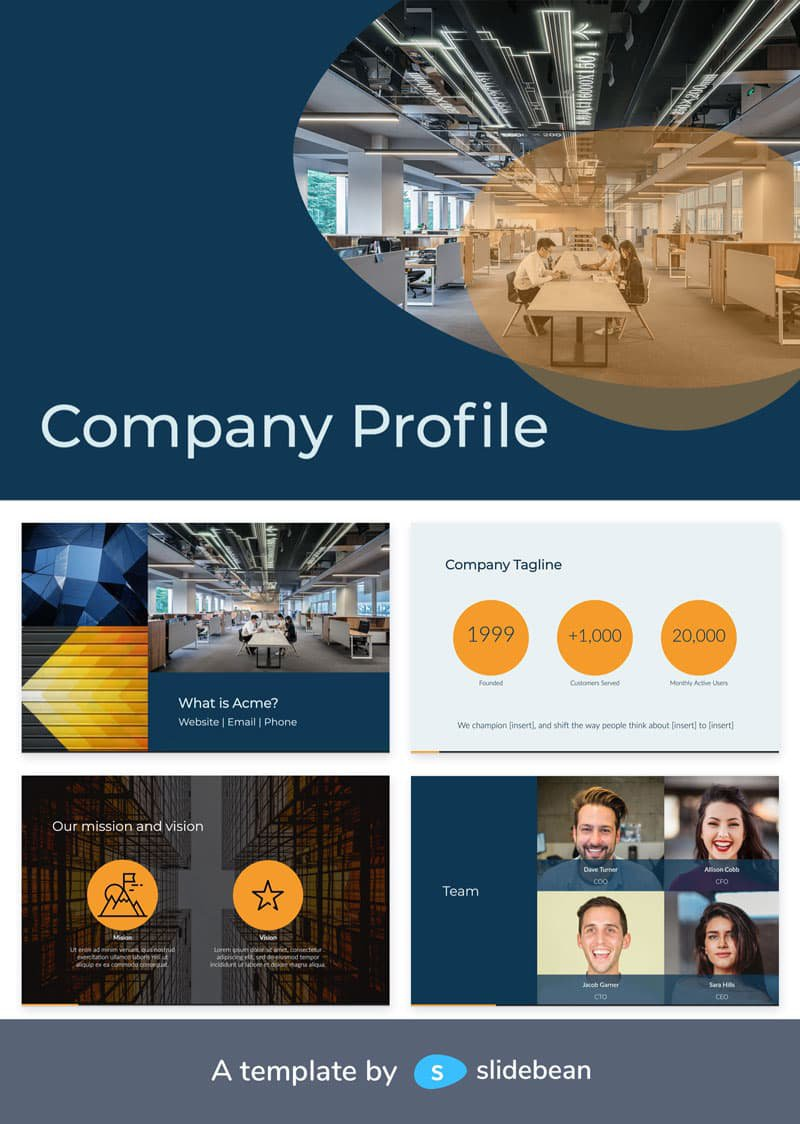 company profile template - top 10 pitch decks