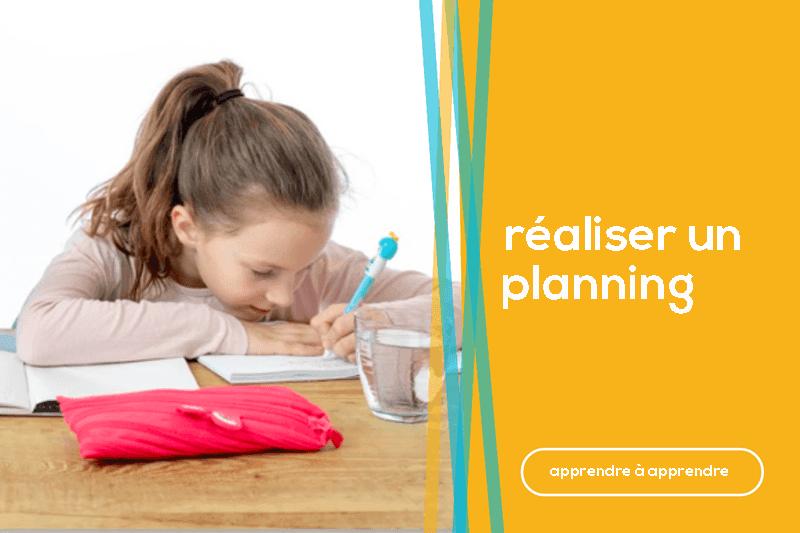 réaliser un planning