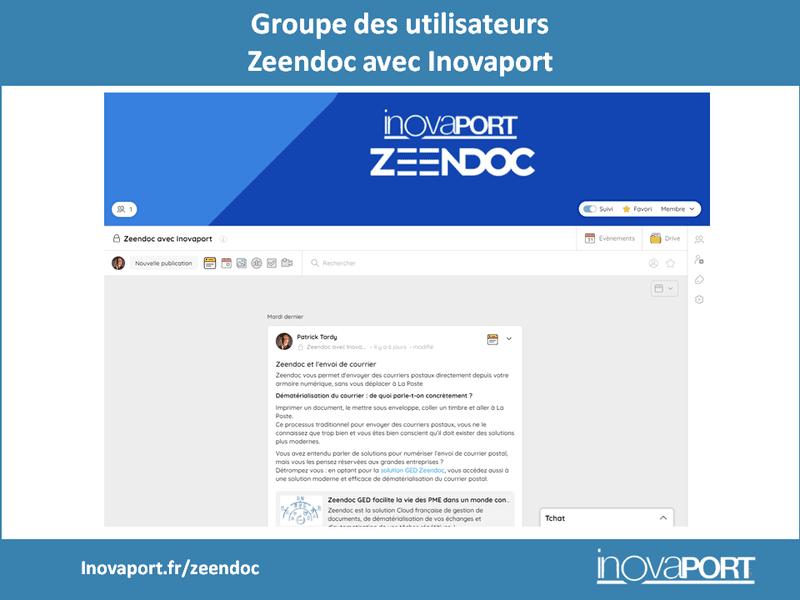 Innover pour acccompagner - Groupe Zeendoc avec Inovaport