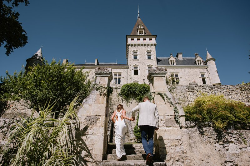 Find the Perfect French Chateau Wedding Venue - chateau de lisse couple