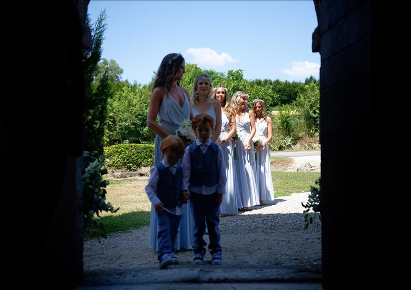 French Chateau Wedding Venue - chateau de lisse bridesmaids
