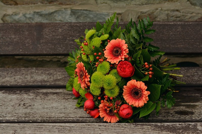autumn french wedding - fall bouquet