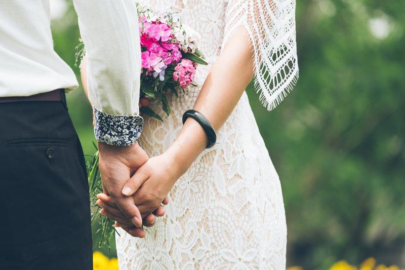 folk style french wedding