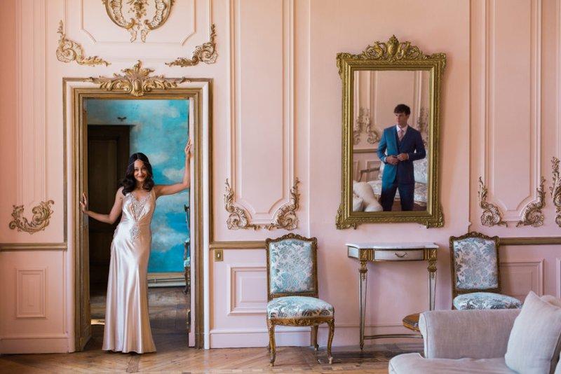 luxury wedding planner - couple in regal room