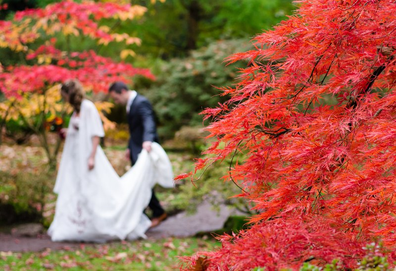 planning a wedding in france - autumn bride and groom