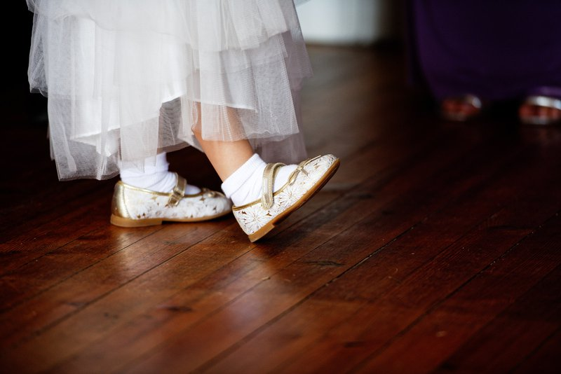 young bridesmaid's feet and shoes