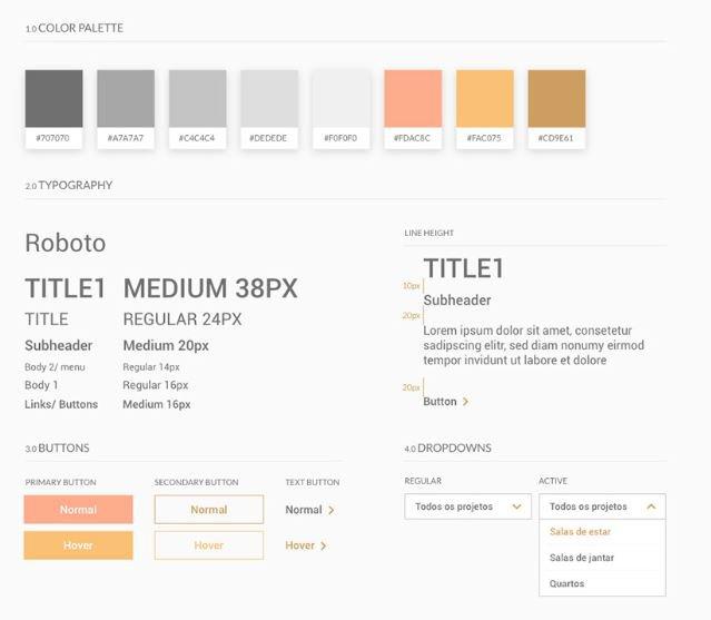 Elementos de UI para projeto de Product Design desenvolvido por Juliana Nieri, aluna do bootcamp MID