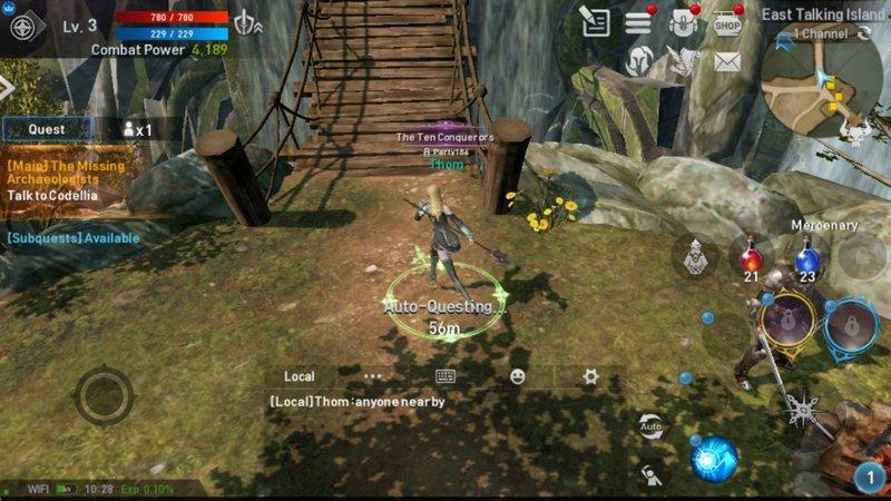 Tela do jogo Lineage 2: Revolution. Exemplo de UX Design
