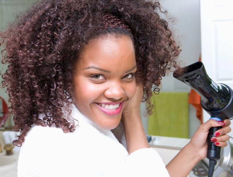 BlowDrying Natural Curly Hair