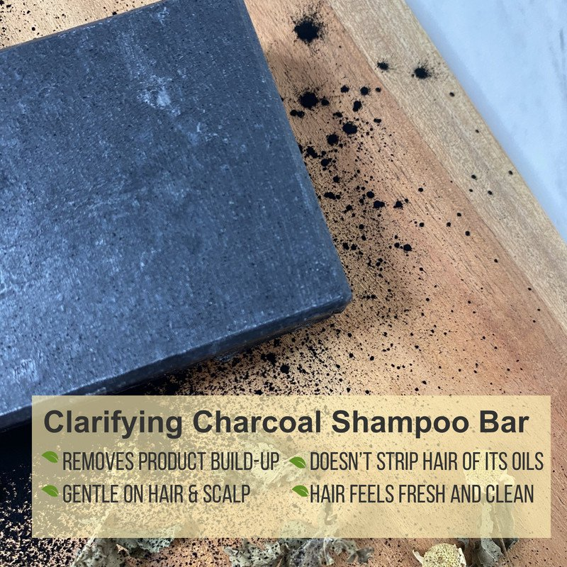 Clarifying Charcoal Shampoo Bar for curly hair