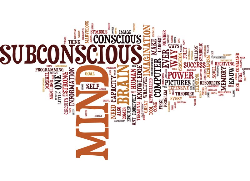 THE POWER OF OUR SUBCONSCIOUS MIND Text Background Word Cloud Concept