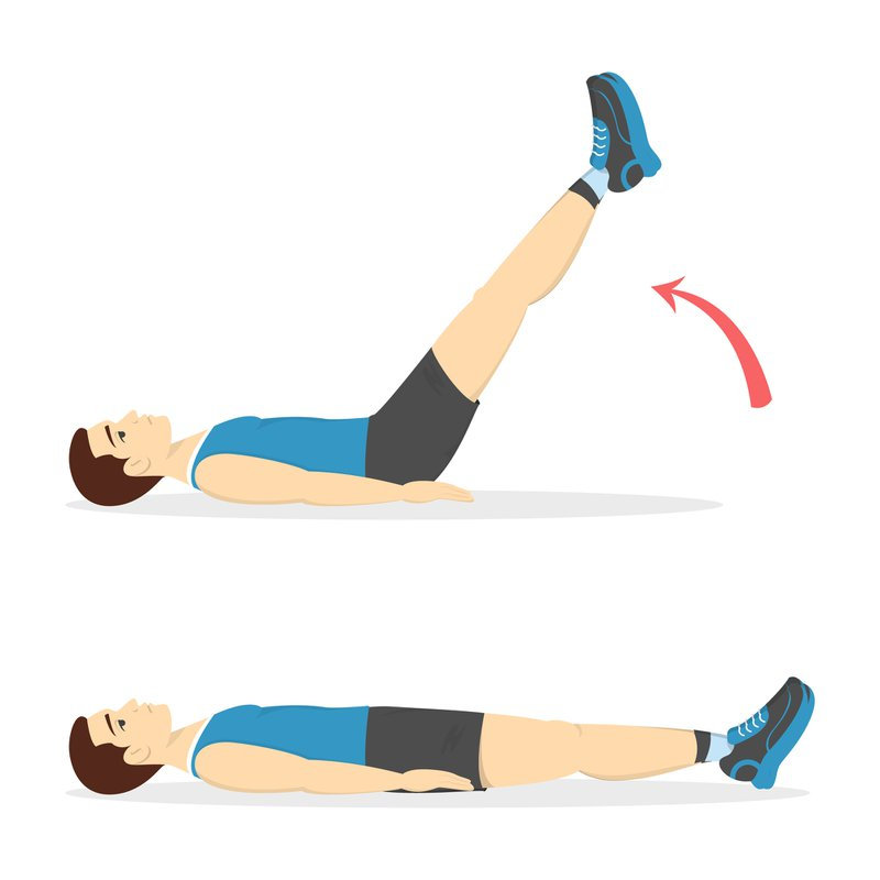 Man doing crunches in the gym. Belly burn workout. Guy make exercise. ABS workout. Healthy and active lifestyle. Isolated vector illustration