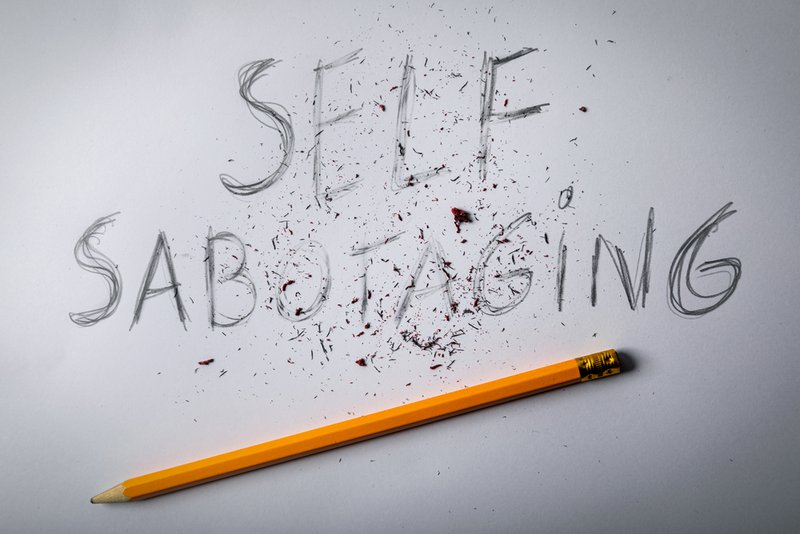 stop sabotaging yourself concept