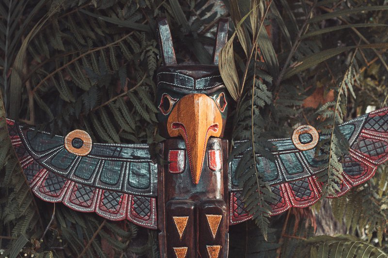 Native American guardian totem