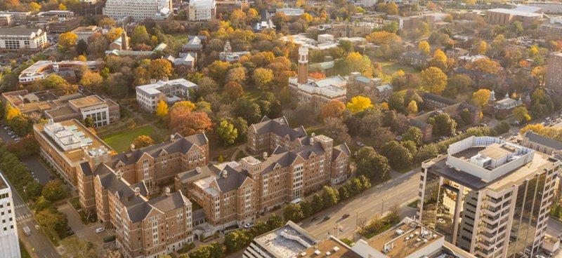 Aerial view of Vanderbilt University