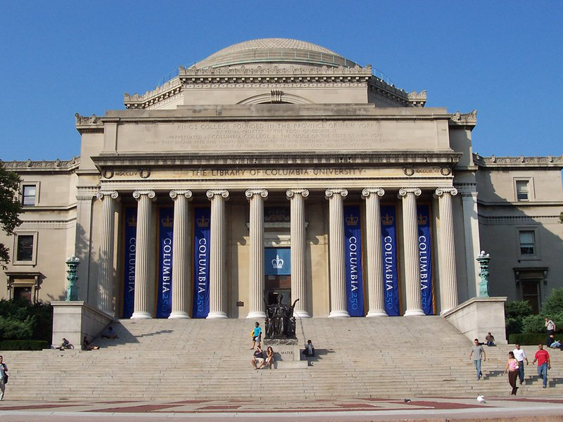 Columbia supplemental essays guide image, a photo of Columbia University's library