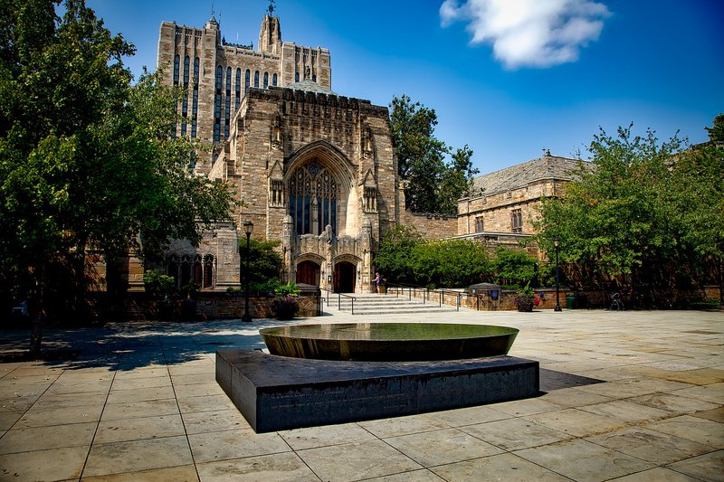 Picture of Yale college campus - various elite universities were implicated in the admissions scandal