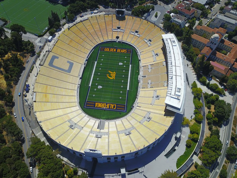 Overview of beautiful memorial stadium
