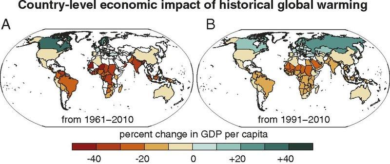 Le réchauffement climatique a accru les inégalités économiques mondiales
