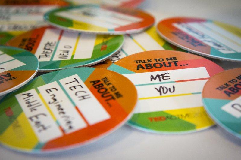 Creative Name Badge Ideas - Conversation Starter - TEDx
