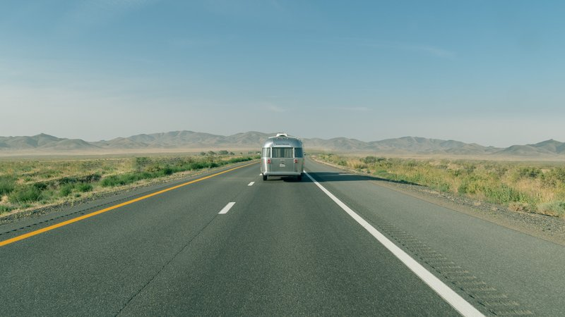 Airstream on the road